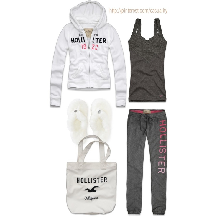 Hollister Pajama Party by casuality, via Polyvore