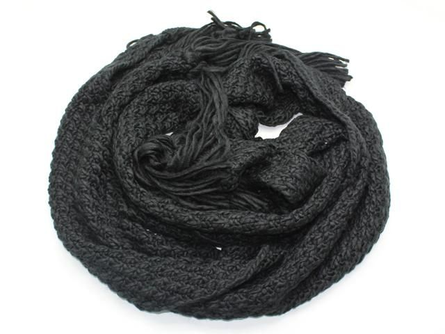 Rope Knit Scarf [Black] || Available now for AUD $29.95 at www.jessica-t.com.au