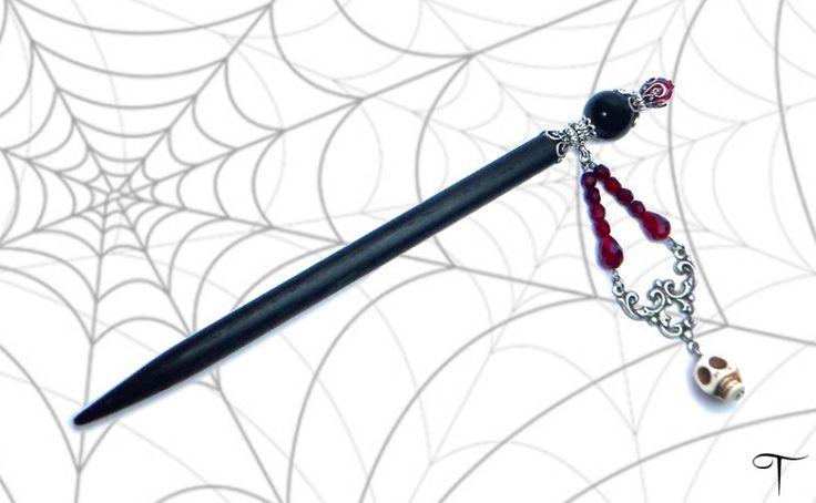Haarnadeln - Haarstab Veripia - ein Designerstück von Teufelslocke bei DaWanda