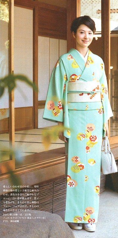 Komon: fine pattern kimono