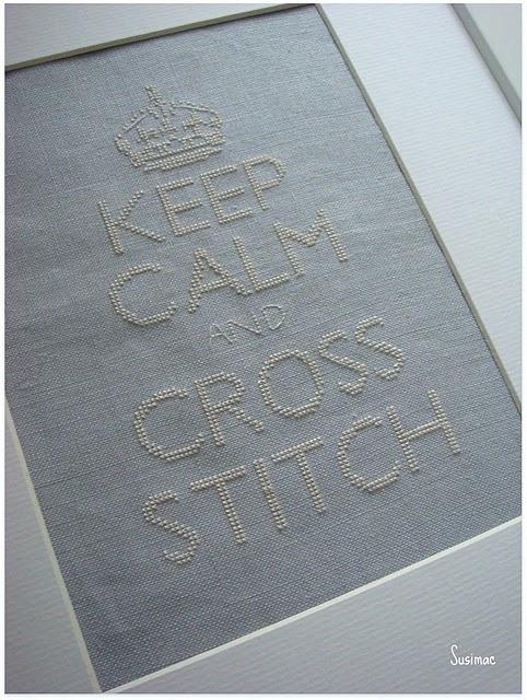 "My favorite ""Keep Calm..."" Love it! #crossstitch"