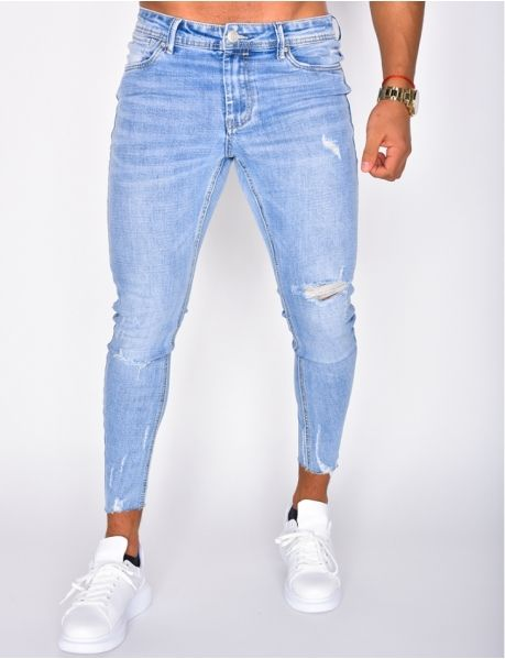 Jeans homme pas cher, jeans Redskins, jean Sixth June - Jeans Industry Jeans Fit, Denim Jeans Men, Super Skinny Jeans, Jeans Pants, Blue Jeans, Jeans Homme Fashion, Mens Fashion Wear, Sneakers Outfit Men, Jeans Boyfriend