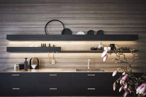 #kitchen #kitchenshelving #kitchenlighting | great new finds at the 2017 ad design show | @meccinteriors | design bites