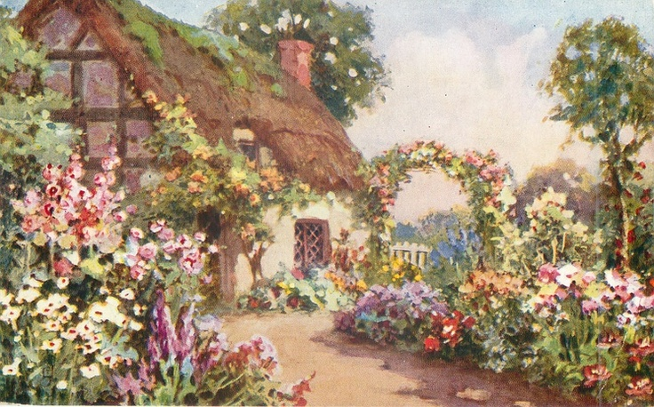Cottage дома In 2019 Pinterest Cottage Art Painted