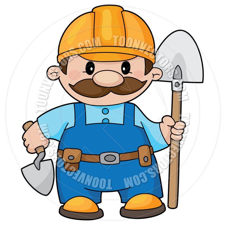 clipart construction worker cartoon - photo #42
