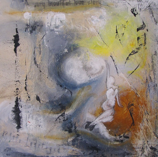 A very beautiful love story - acrylic and collage on canvas!