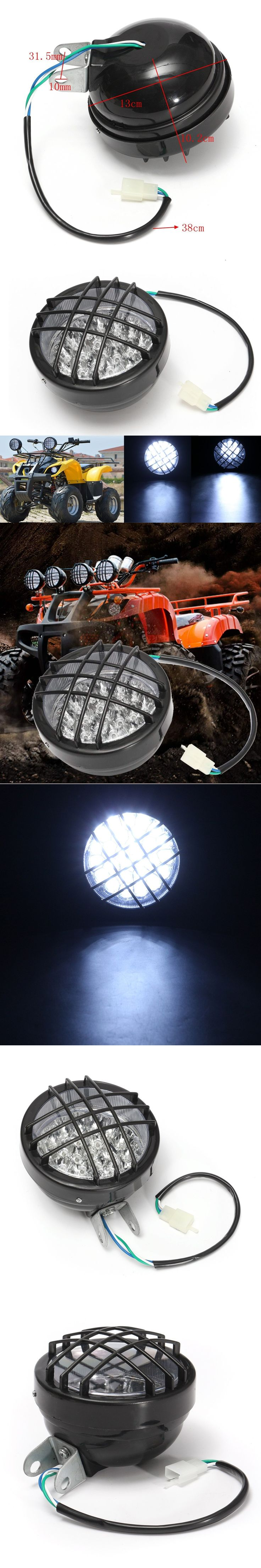 12V Front 27 LED Motorbike ATV Headlight Fog Lamp Spotlight For ATV Quad 4 Wheeler Go Kart Roketa SunL Taotao