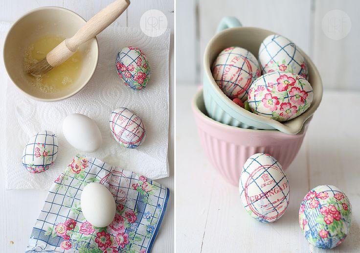 Daddy Cool!: Στολίστε τα πασχαλινά αυγά με μια χαρτοπετσέτα!
