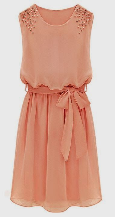 beautiful coral / peach / apricot dress