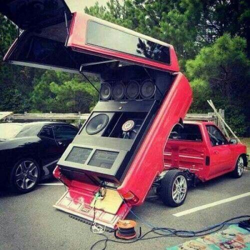 Sound system truck bed | Cars