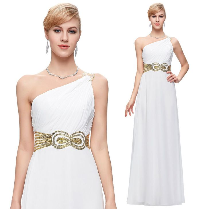 White evening dress GREECE