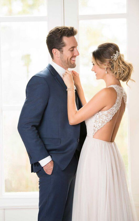 14ae82a8fe2 6707 Boho Wedding Dress with French Tulle by Stella York