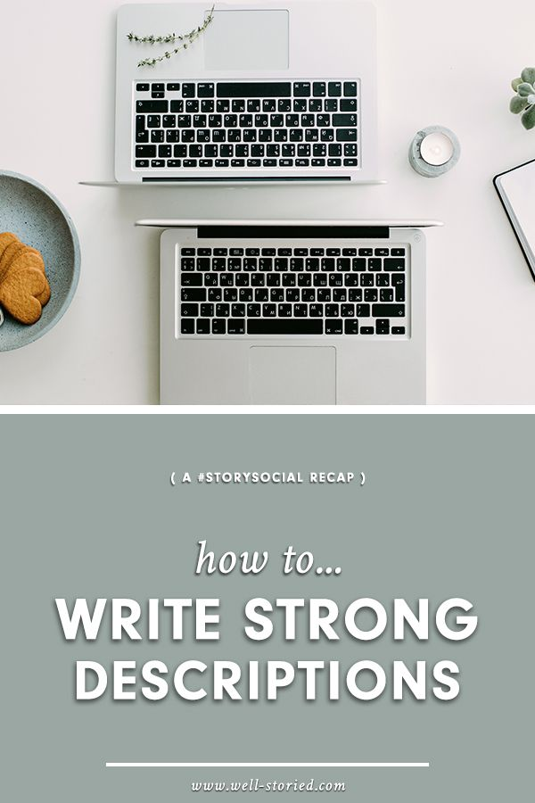 Struggle to write strong descriptions in your storytelling? Check out tips & tricks from writers around the world in this #StorySocial recap!
