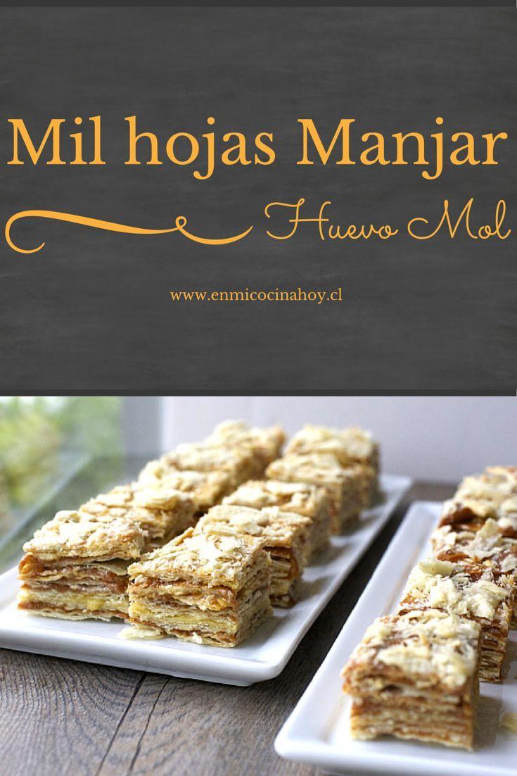 Aprende a hacer pastel de mil hojas con manjar y huevo mol es el mas tradicional de los mil hojas en Chile. Una receta clásica. Se los recomiendo.
