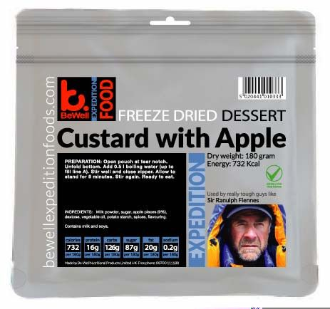 BeWell Expedition Food Custard with Apple Pieces High Energy(180g - 750)