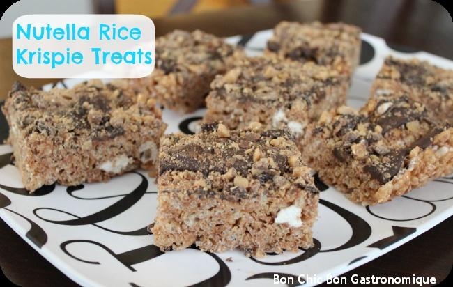 Bourbon Caramel Rice Crispy Treats With Dark Chocolate ...