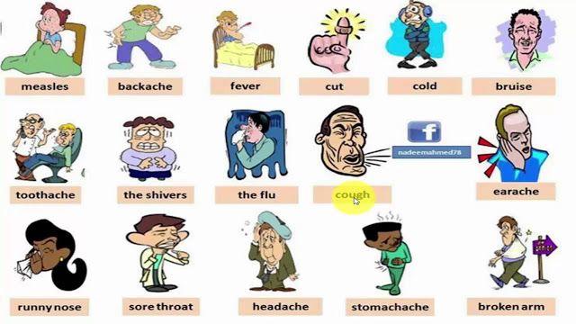 الامراض بالانجليزية للسنة الثانية متوسط Http Www Seyf Educ Com 2020 02 Diseases In English 2am Html English Vocabulary Learn English Learn English Vocabulary