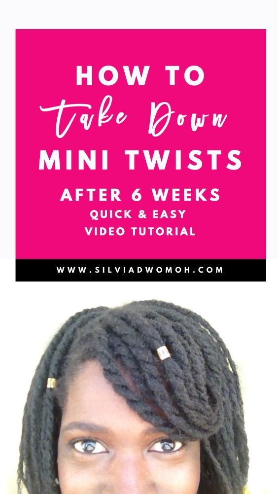 Learn how to take down or remove mini twists done on natural hair easily with th…