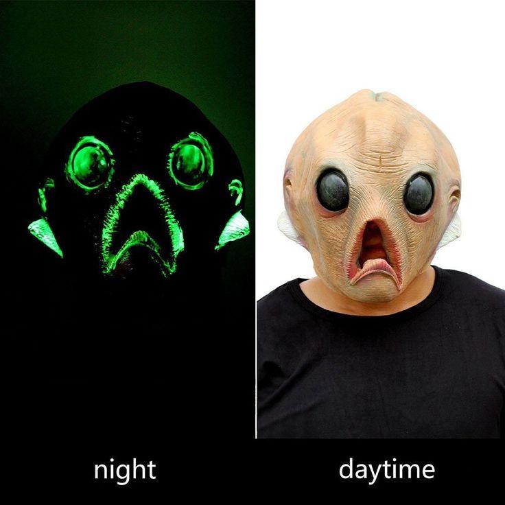 Fenta Party Halloween Costume Ball Latex Saucer Man Headgear Face Mask Gesichtsmaske: Amazon.de: Küche & Haushalt