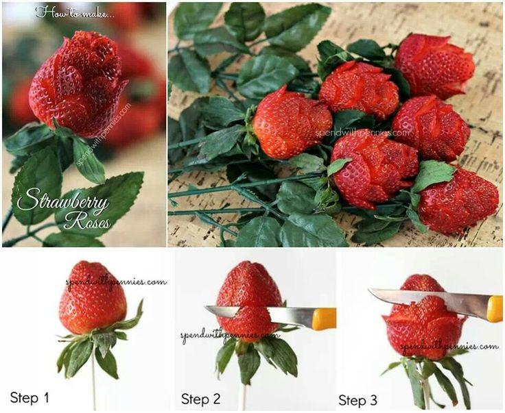 R a z truskawki kulinaria pinterest for Diy rose food