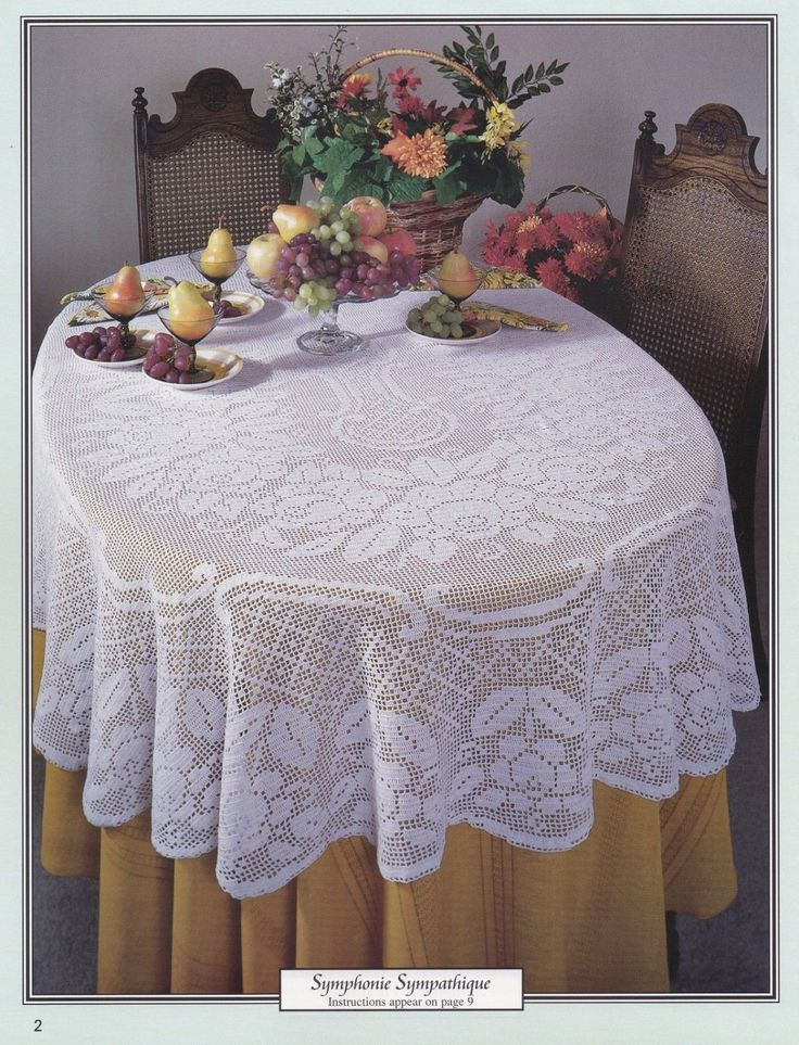 Oval Tablecloths American School of Needlework by LucyGooseyDolls