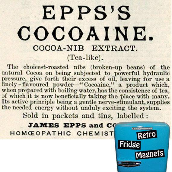 Retro  Epps Cocaine Vintage Ad   Fridge by RetroFridgeMagnets, $2.00