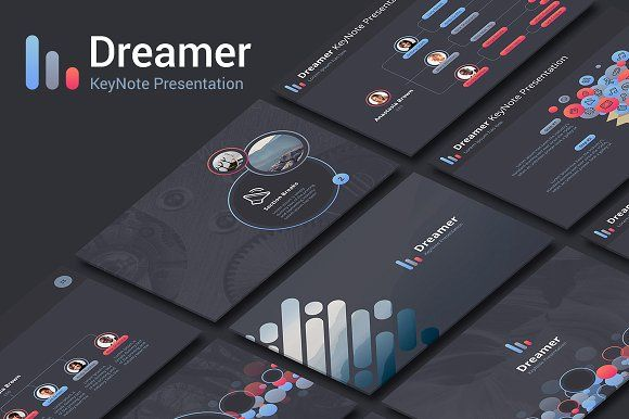 Dreamer Keynote Template by Site2max on @creativemarket