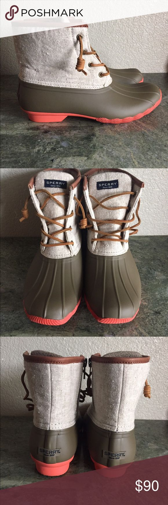 New! Women's Sperry Saltwater Duck Boots sz 9 Brand new! Only tried on  Women size 9 No box.... I sell cheaper on mer.ca.ri. Sperry Shoes Winter & Rain Boots