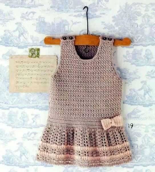 Crochet dress as usual but add this flared skirt to bottom, make wider/bigger underarms to turn it into a jumper.