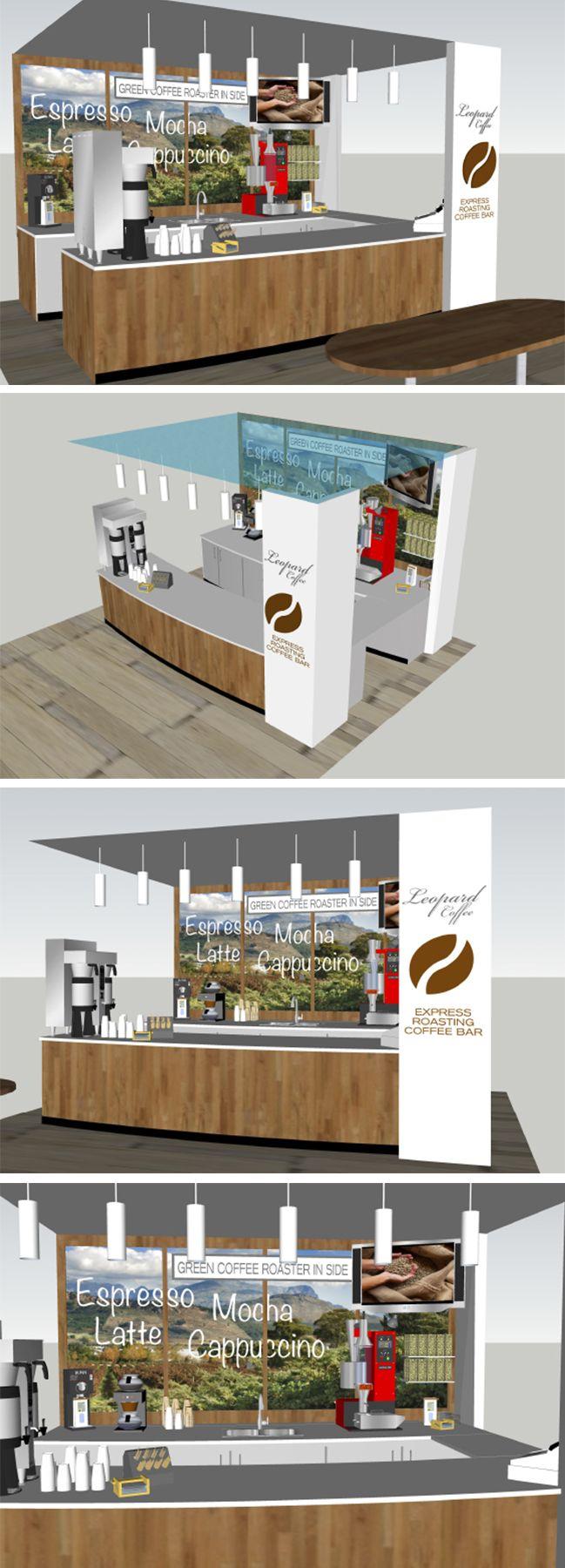 Conception kiosque Mini Bistro Java Master 3D