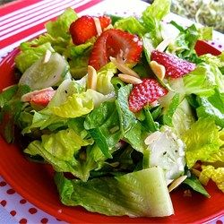Summertime is the right time for cucumber and tomato salad. This one is dressed with a basic homemade salad dressing.