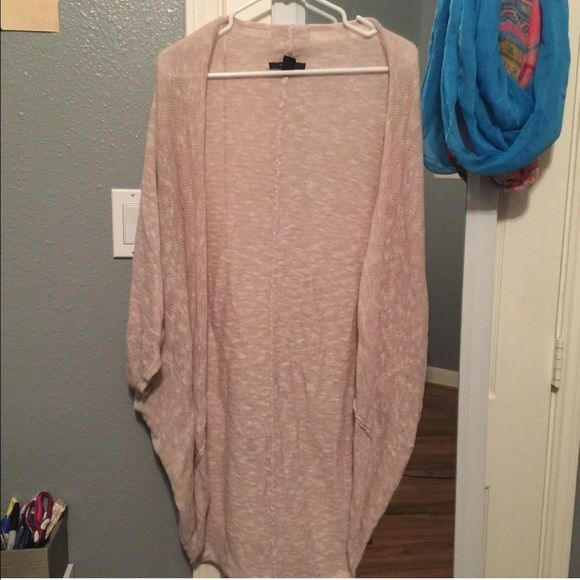 Pink long cardigan Soft light pink cardigan from forever 21 I'm 5'3 for reference Forever 21 Other