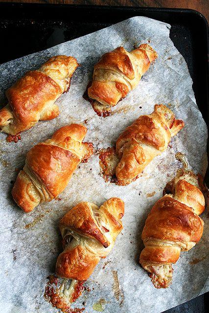 prosciutto + gruyère croissants