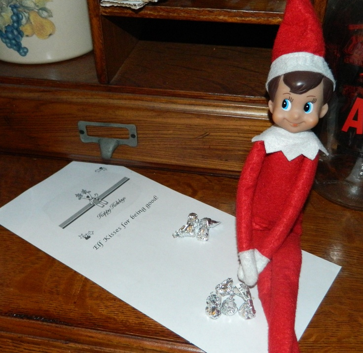 21 best funny elf on the shelf ideas images on pinterest for Elf on the shelf chocolate kiss