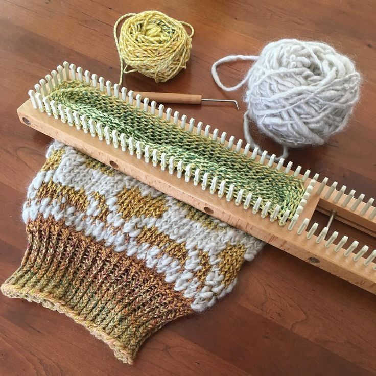Вязание на луме фото
