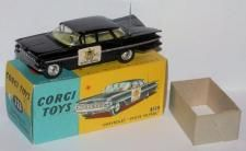 Use our free price guide to buy, sell and value Corgi model 223,  Chevrolet State Patrol in Black - Corgi Price Guide #450