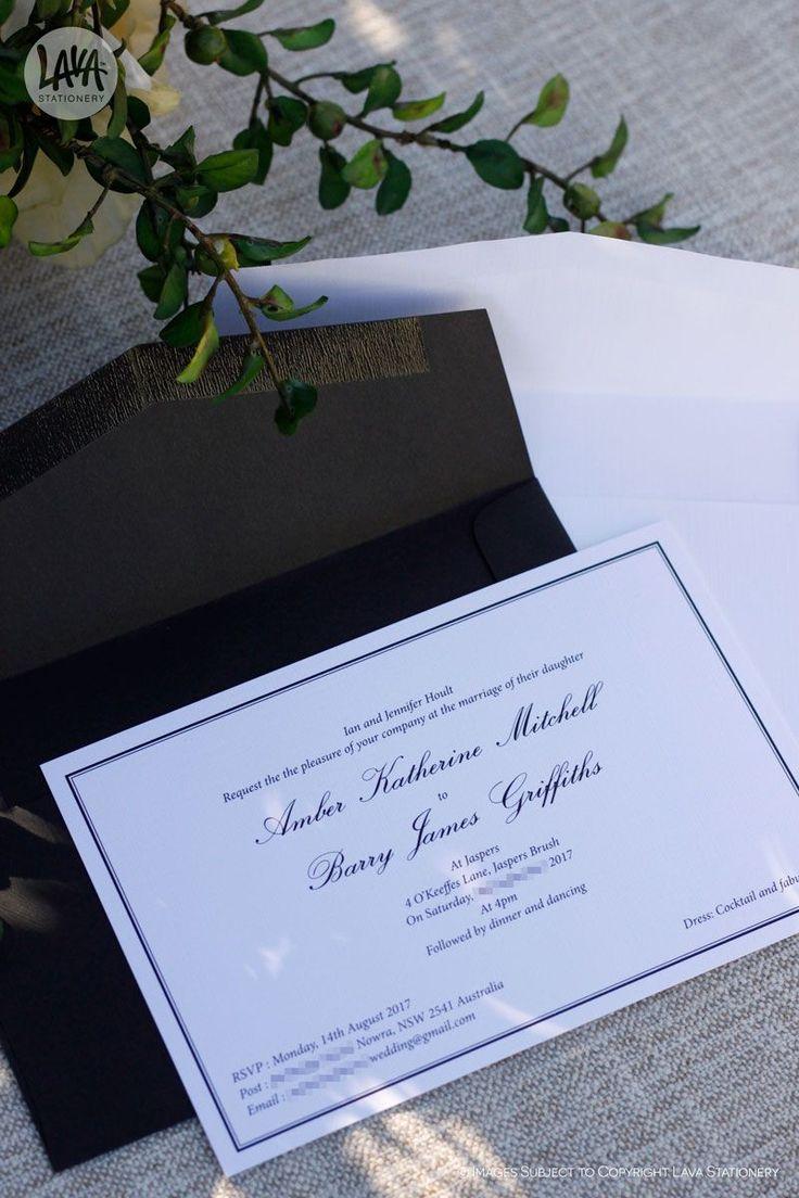 Classic black and white invitations never go out of style ✌️  •••  #ClassicInvitations #BlackAndWhiteInvitations #BlackAndWhiteWedding #LavaStationery #CustomInvitations #TraditionalInvites #WeddingsAustralia #AustralianWedding #SydneyWeddingStationery #WeddingStationery #DesignedInAustralia #HandmadeInAustralia #SupportSmallBusiness #EtsySeller #BrideToBe #QualityPrinting