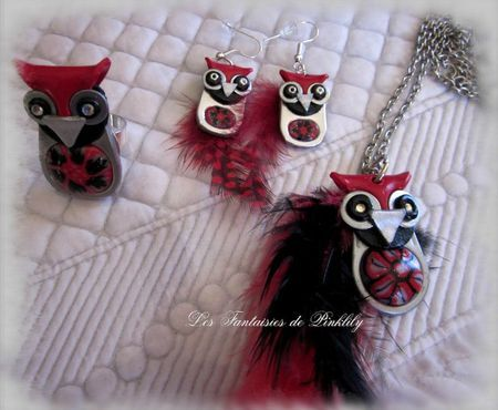 Cute! Made from clay, pop tabs and feathers