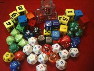Kindergarten math ideas - using dice