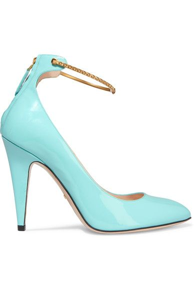 The 25 best turquoise heels ideas on pinterest sexy heels cute gucci patent leather pumps turquoise tiffany bluelight junglespirit Images