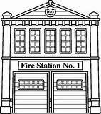Pattern for Fire Station for felt car mat.