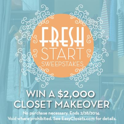 Begin 2014 with a fresh start – get organized with a new custom closet!: Fresh Start, Custom Closets
