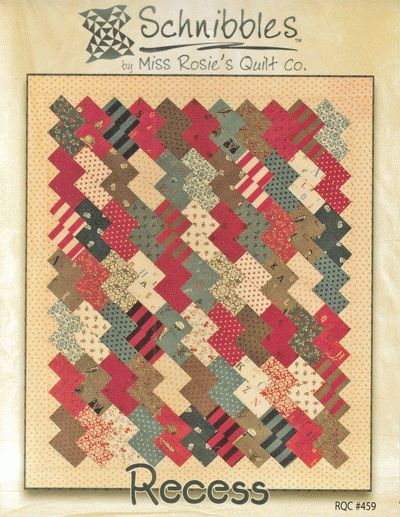 Square Quilt Patterns Free : Free Charm Square Quilt Patterns Recess - quilt pattern - by Miss Rosie s Quilt Co. quilting ...