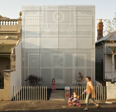 Perforated house, Brunswick. Facade heritage