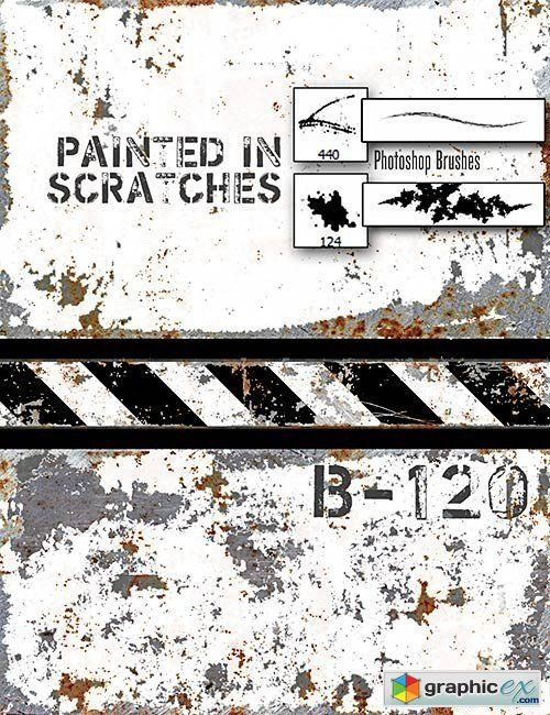 http://graphicex.com/photoshop/brushes-and-gradient/100289-rons-metal-scratches-photoshop-brushes.html