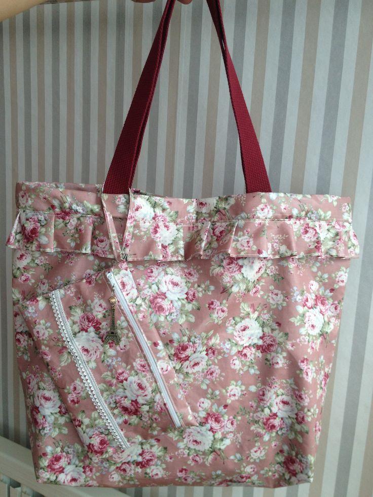 #coatedfabric #totebag with #purse.