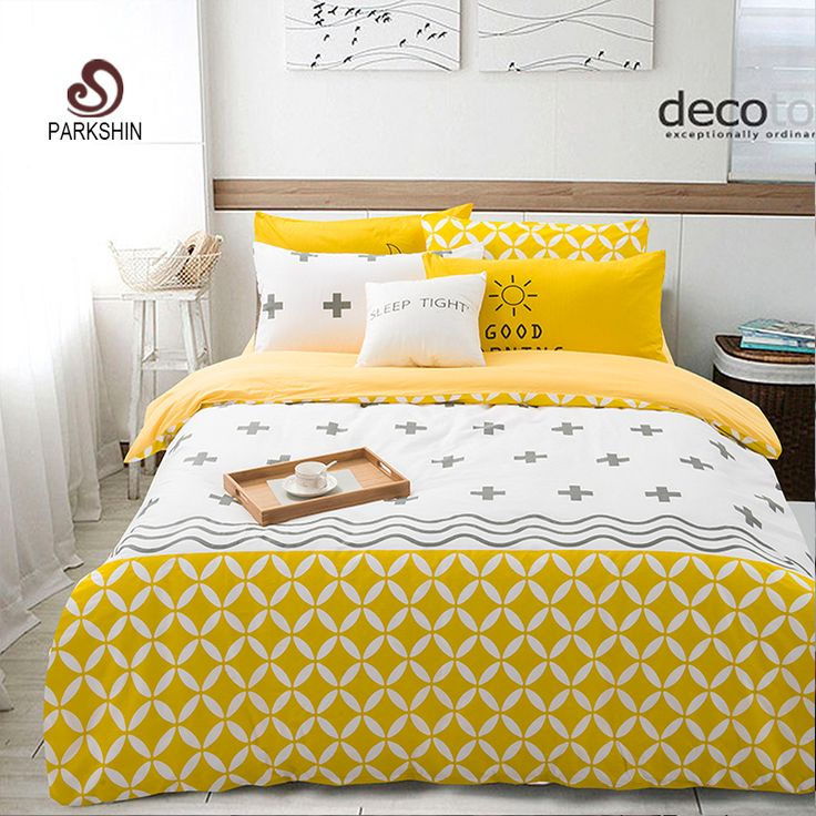 Beau ParkShin Nordic Style Bedding Sets 100% Cotton Duvet Cover Set Super Soft  Bed Sheet Queen