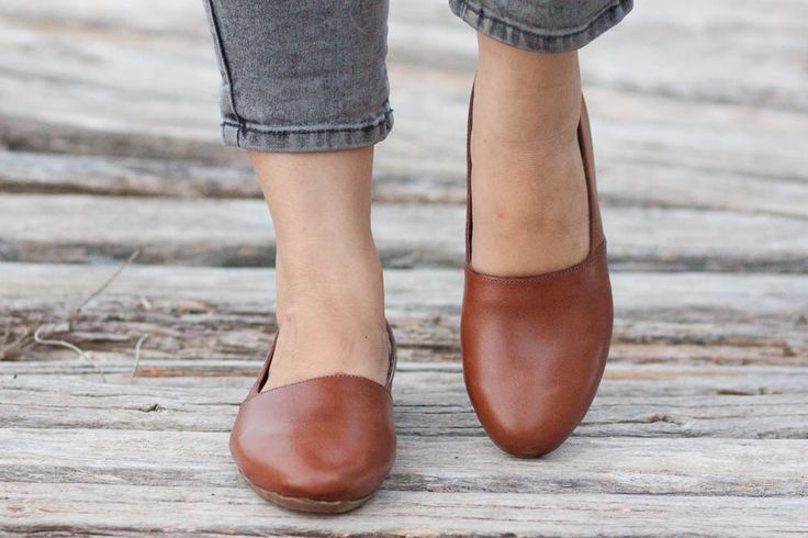 Brown Leather Shoes, Brown Shoes, Loafers, Flat Shoes, Slip Ons , Free Shipping by BangiShop on Etsy https://www.etsy.com/listing/199400905/brown-leather-shoes-brown-shoes-loafers