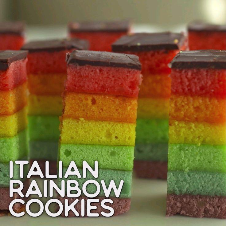 Rainbow Eats: Italian Rainbow Cookies Looks Sweet & Yummy. ❤