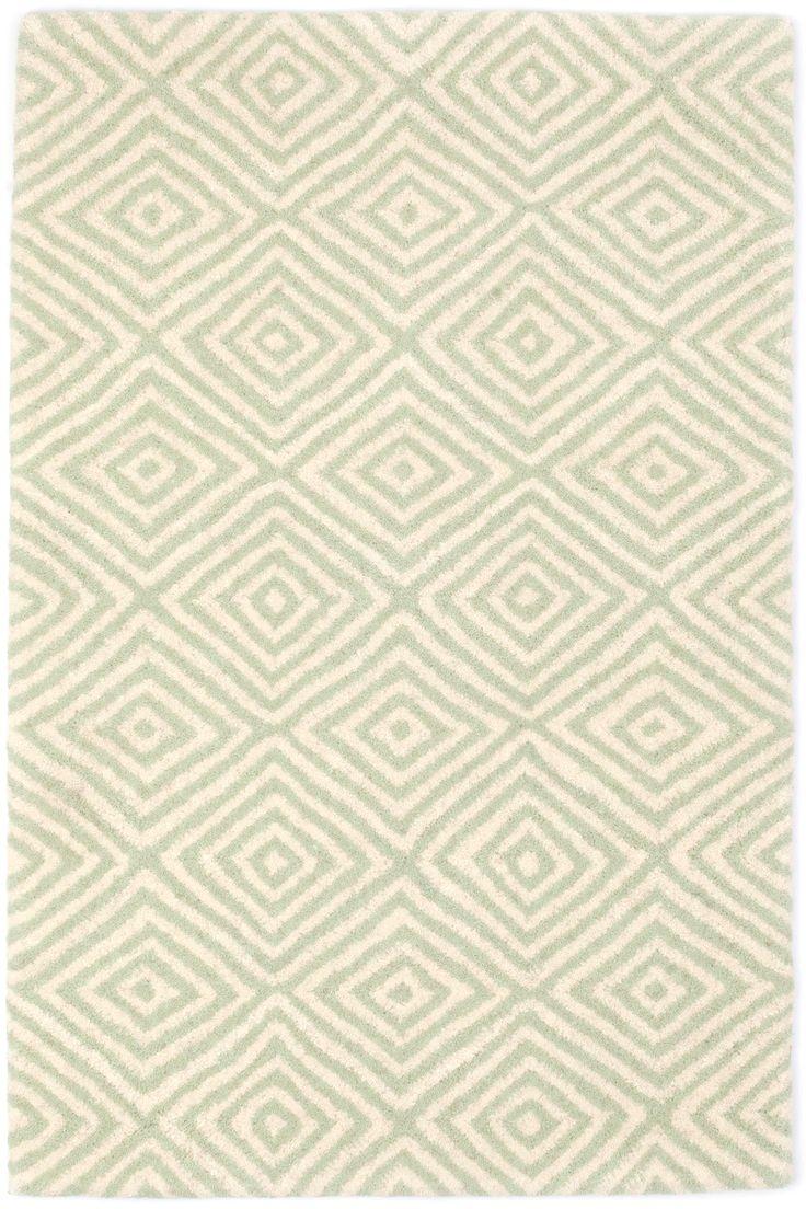 Navy greek key rug transitional entrance foyer libby langdon - Tivoli Ocean Wool Tufted Rug